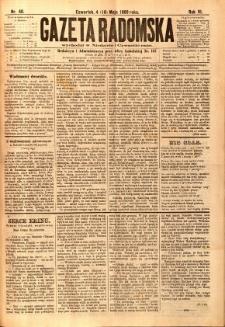 Gazeta Radomska, 1889, R. 6, nr 40