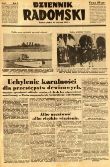 Dziennik Radomski, 1940, R. 1, nr 47