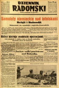 Dziennik Radomski, 1940, R. 1, nr 61