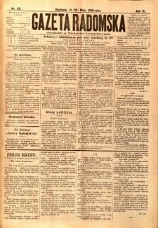 Gazeta Radomska, 1889, R. 6, nr 43