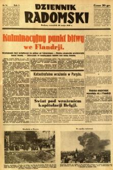 Dziennik Radomski, 1940, R. 1, nr 74