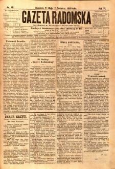 Gazeta Radomska, 1889, R. 6, nr 45