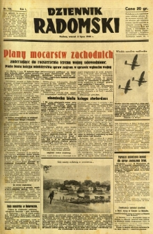 Dziennik Radomski, 1940, R. 1, nr 102