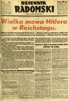 Dziennik Radomski, 1940, R. 1, nr 119