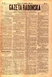 Gazeta Radomska, 1889, R. 6, nr 49