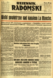 Dziennik Radomski, 1940, R. 1, nr 138