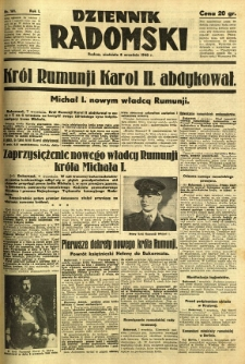 Dziennik Radomski, 1940, R. 1, nr 161