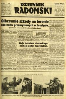 Dziennik Radomski, 1940, R. 1, nr 169