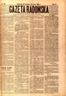 Gazeta Radomska, 1889, R. 6, nr 54