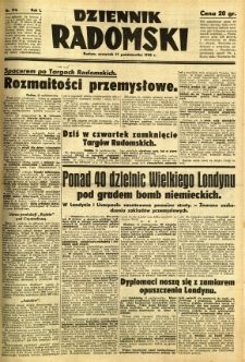 Dziennik Radomski, 1940, R. 1, nr 194
