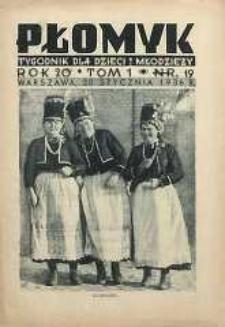 Płomyk : tygodnik dla dzieci i młodzieży, 1936, R. 20, T. 1, nr 19