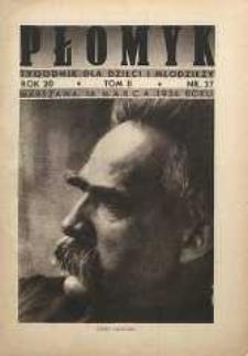 Płomyk : tygodnik dla dzieci i młodzieży, 1936, R. 20, T. 2, nr 27