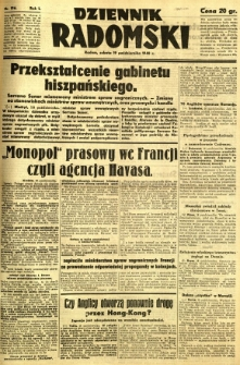 Dziennik Radomski, 1940, R. 1, nr 196