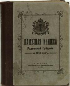 Pamjatnaja knižka Radomskoj guberni na 1914 god'
