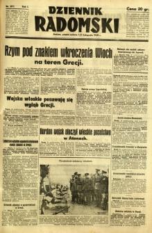 Dziennik Radomski, 1940, R. 1, nr 207