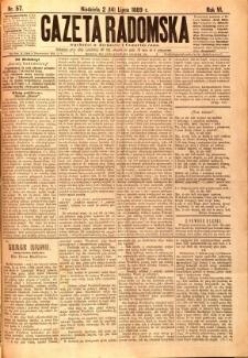 Gazeta Radomska, 1889, R. 6, nr 57