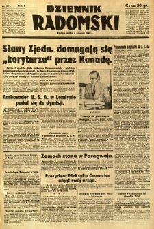 Dziennik Radomski, 1940, R. 1, nr 234