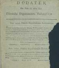 Dziennik Departamentowy Radomski, 1815, nr 38, dod.
