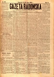 Gazeta Radomska, 1889, R. 6, nr 60