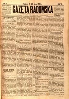 Gazeta Radomska, 1889, R. 6, nr 61