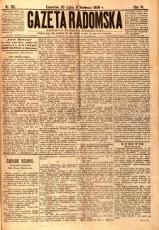 Gazeta Radomska, 1889, R. 6, nr 62