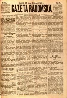 Gazeta Radomska, 1889, R. 6, nr 65