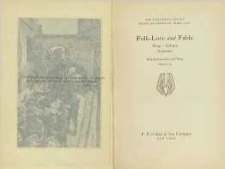Folk-lore and fable : Aesop, Grimm (Jacob), Grimm (Wilhelm), Andrersen (Hans Christian)
