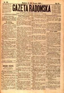 Gazeta Radomska, 1889, R. 6, nr 69