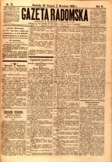 Gazeta Radomska, 1889, R. 6, nr 71