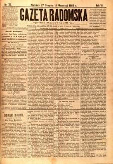 Gazeta Radomska, 1889, R. 6, nr 73