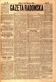 Gazeta Radomska, 1889, R. 6, nr 75