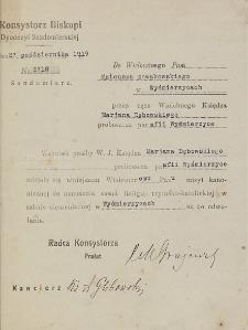 Do Wielmożnego Pana Mateusza Nowakowskiego w Wyśmierzycach