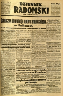 Dziennik Radomski, 1941, R. 2, nr 139