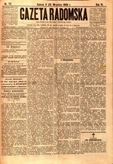 Gazeta Radomska, 1889, R. 6, nr 77