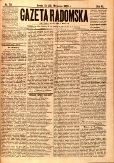 Gazeta Radomska, 1889, R. 6, nr 78