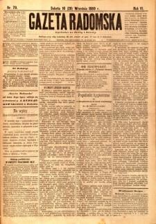 Gazeta Radomska, 1889, R. 6, nr 79