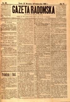 Gazeta Radomska, 1889, R. 6, nr 82