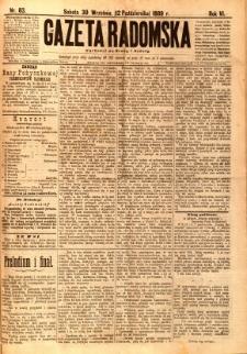 Gazeta Radomska, 1889, R. 6, nr 83