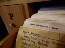 Katalog kartkowy w Czytelni Czasopism