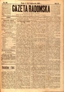 Gazeta Radomska, 1889, R. 6, nr 84