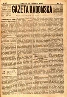 Gazeta Radomska, 1889, R. 6, nr 87