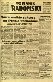 Dziennik Radomski, 1941, R. 2, nr 258