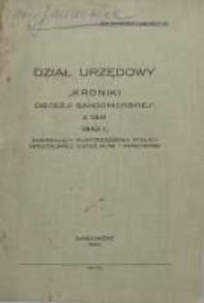 """Dział Urzędowy """"Kroniki Diecezji Sandomierskiej z 1941 r."""""""