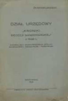 """Dział Urzędowy """"Kroniki Diecezji Sandomierskiej z 1938 r."""""""