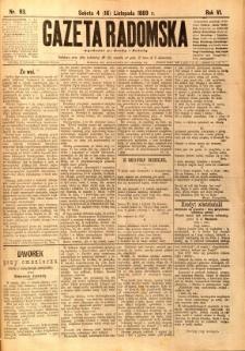 Gazeta Radomska, 1889, R. 6, nr 93