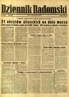 Dziennik Radomski, 1942, R. 3, nr 146