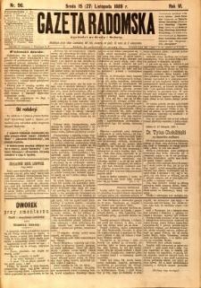 Gazeta Radomska, 1889, R. 6, nr 96