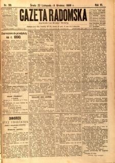 Gazeta Radomska, 1889, R. 6, nr 98