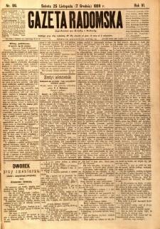 Gazeta Radomska, 1889, R. 6, nr 99