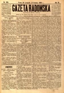 Gazeta Radomska, 1889, R. 6, nr 100